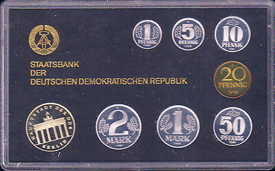 DDR Kursmünzensatz 1989, polierte Platte - selten!