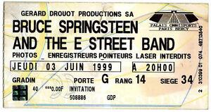 BRUCE SPRINGSTEEN ticket bercy paris 1999 - France - BRUCE SPRINGSTEEN ticket bercy paris 1999 - France