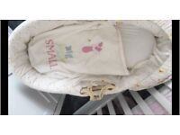 Hardly used like new Moses basket