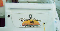 Boat and other watercraft lettering and graphics