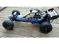 Rc hpi baja 5b upgraded , carbon fibre brakes, not traxxas , nitro , cheap