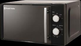 NEW RUSSELL HOBBS 20 LITRE BLACK MANUAL MICROWAVE RHM2060B JUST £49.99