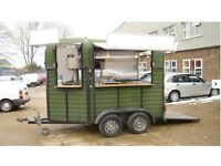 Iconic Catering Trailer & towing vehicle, perfect for events, weddings & festivals