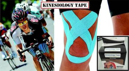 Kinesio tape muscle therapy for running exercise bike marathon Gladesville Ryde Area Preview
