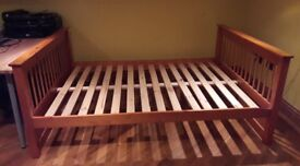 Honey pine solid wood Double bed.