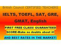 Guaranteed IELTS/SAT/TOEFL/Money back guarantee/£19-£23 per hour. Experienced teachers and tutors!