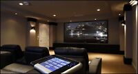 Home theatre wiring, audio, video, tel, cable, cameras