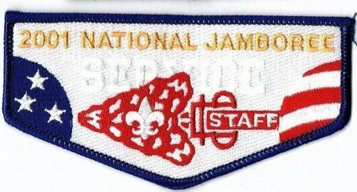 Boy Scout 2001 National Jamboree OA Service Staff Flap