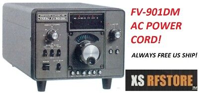 POWER CORD AC FITS: Yaesu External VFO FV-901DM BRAND NEW AND FREE USA SHIPPING! External Power Cord