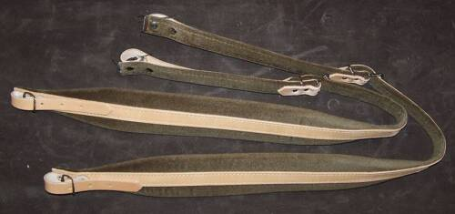 Pair Of Shoulder Straps Belts Leather With Padding 2 3/8in For Accordion