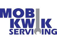 MOBI KWIK: MOBILE CAR MECHANIC; OFFERING: JUST SERVICING; FULL AND INTERIM SERVICE.