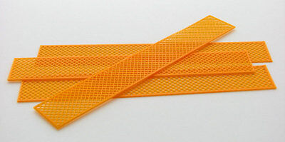 1:50 ORANGE PLASTIC CONSTRUCTION FENCING  3D TO SCALE TOY DIORAMA ACCESSORY