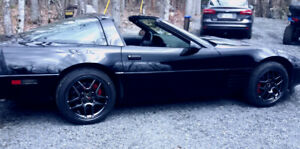 94 corvette black on black only 64k
