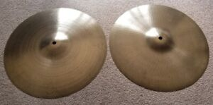 Vintage ZILDJIAN HI HAT CYMBAL SET Late 1960's-70's 3dot, MINT