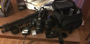 Canon t3i DSLR with equipment