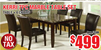 Kerri 7pc Marble Table Set, $499 Tax Included!