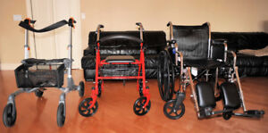 WHEELCHAIR and/or 2 ROLLATORS