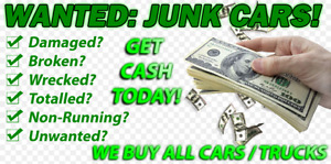 JUNK SCRAP CAR REMOVAL CASH FOR CARS TRUCK DAMAGED VEHICLE BUYER