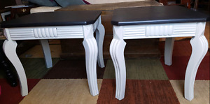 A pair of revamped end tables