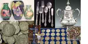 Collectors Buying Estates, Gold, Coins, Silver, Antiques +