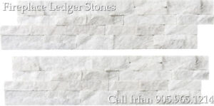 Glacier Fireplace Ledger Stones Corner Wall Facing