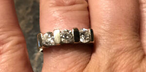 Three Diamond Trinity Ring