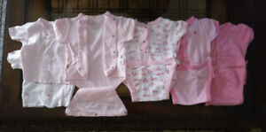 6 pieces  0-3 Months  Very Easy to Put On  Baby Girl Clothes