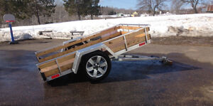 Artisanal trailer 5x8 aluminium and 3500lbs Axel