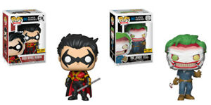 Funko Pop DC Super Heroes Red Wing Robin  and The Joker Excl.