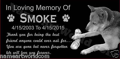 Personalized Pet Headstone Free Engraved on the Grave Marker Granite