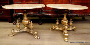 Pair of Indo - Portuguese Side Tables