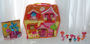 "LALALOOPSY CARRYING CASE LOT 1"" INCH MICRO DOLLS MINIS ETC"