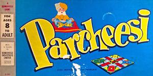 Antiquité 1950. Collection. Jeu Parcheesi. Somerville. Canada
