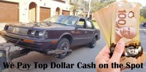 Highest Cash for Scrap Cars 100$-5000$ cash paid for junk cars