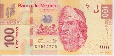 Mexico Banknote p124 100 Pesos 10.6.2013 Serie AG, Prefix K, UNC