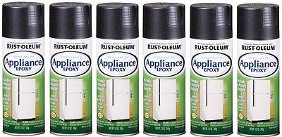 Appliance Paint Black ((6) Pack 12 Oz Black Rustoleum Epoxy Appliance Spray Paint 7886-830 )