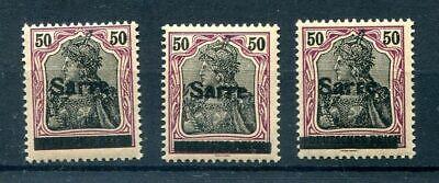 SAAR 13xaI-III drei Typen ** POSTFRISCH BPP (77533 online kaufen
