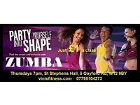 Zumba class for just £1 West London