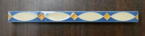 Vintage Tile Liner Pale Yellow Fish Pattern on Blue