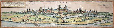 Speyer - Spira - Braun und Hogenberg - Original von 1580