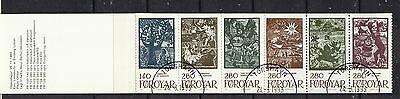 Färöer gestempelt 1984 Markenheft MiNr. 2  Inhalt MiNr. 108-111