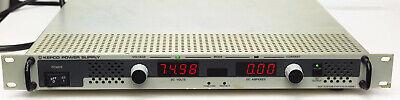 Kepco Klp 75-33 1200w Dc Power Supply 0-75v 0-33a Gpib Rs232