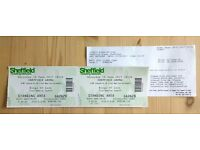 2 x standing tickets KINGS OF LEON - Sheffield Arena - Sat 10 June 2017