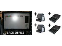 i5 BACK OFFICE & 2 EPOS Tills with new Touch Screen with NEW Cash Drawer- Software INCLUDED