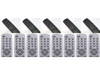 BRAND NEW REMOTES,100,50 OF EACH 2 LOTS,ONLY £75,NO OFFERS.