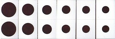 *60 ASSORTED SIZE 2X2 CARDBOARD/MYLAR COIN HOLDERS FLIPS* YOU PICK * NEW * S24 *