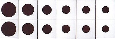 *120 ASSORTED SIZE 2X2 CARDBOARD/MYLAR COIN HOLDERS FLIPS* YOU PICK * NEW *AG20*