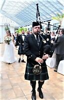 Scottish bagpiper for hire for weddings, funerals & events.