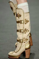-70% New ANNA SUI MILITARY STYLE Leather BOOTS RUNWAY Collection