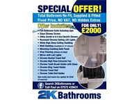 2K Bathrooms Washington 07434206784 30 yrs experience 7 days 8 till 8